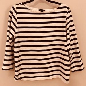 French navy stripe 3/4 sleeve shirt